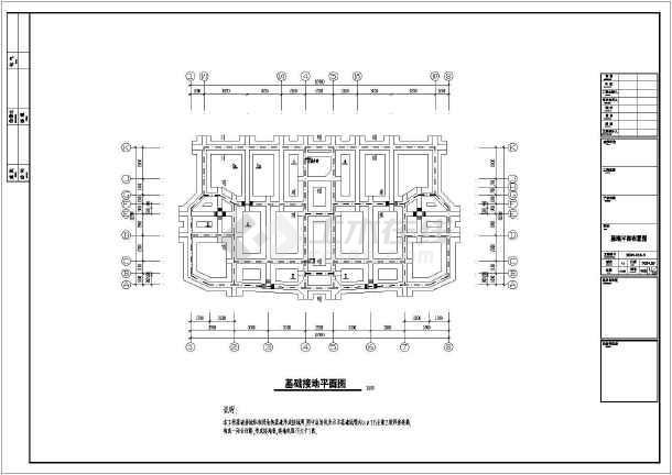 某地区住宅小区12层建筑电气cad施工图纸-图2
