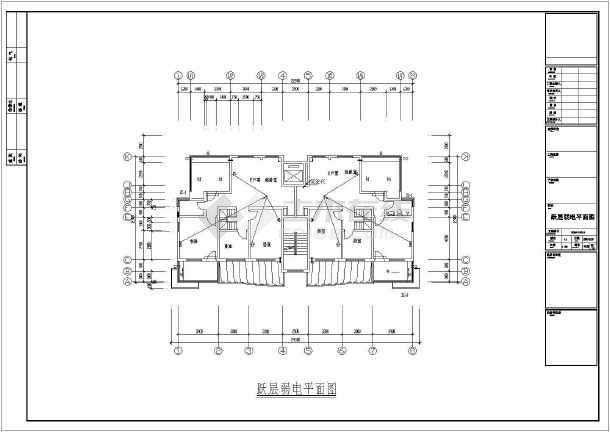 某地区住宅小区12层建筑电气cad施工图纸-图3