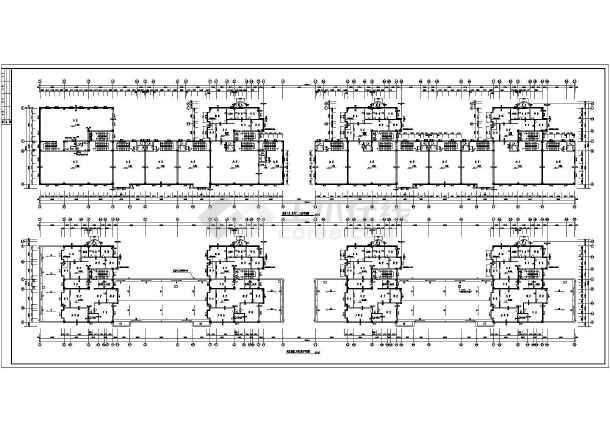 某地区沿街公建全套结构设计施工图-图1