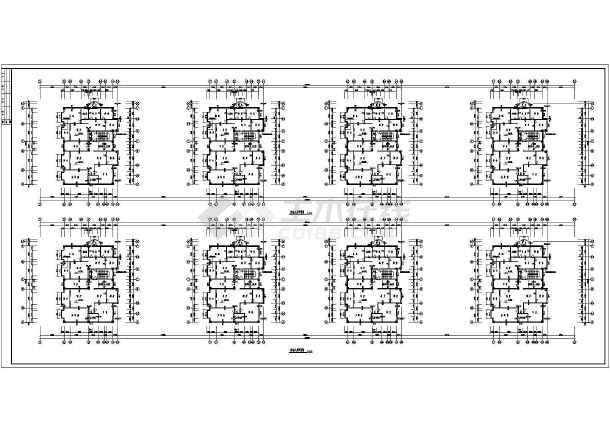 某地区沿街公建全套结构设计施工图-图2