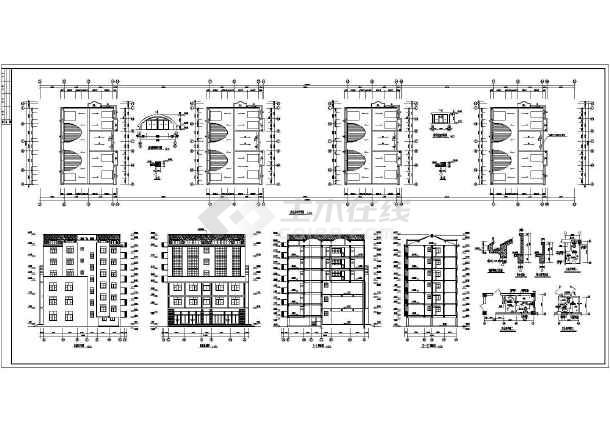 某地区沿街公建全套结构设计施工图-图3