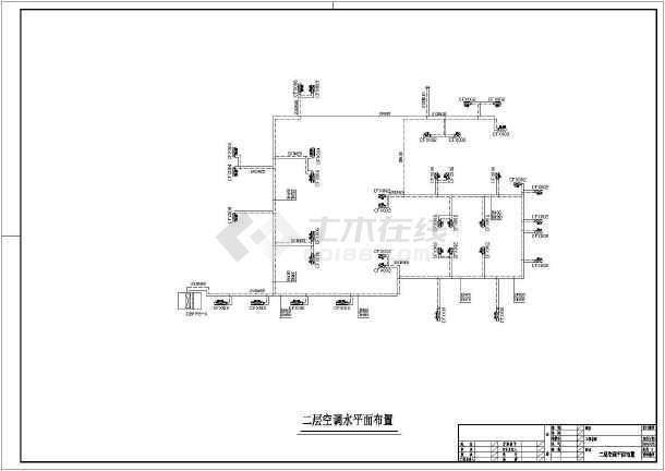 某休闲中心建筑楼整套中央空调系统平面cad施工图纸-图1