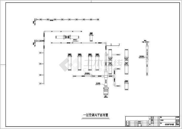 某休闲中心建筑楼整套中央空调系统平面cad施工图纸-图2
