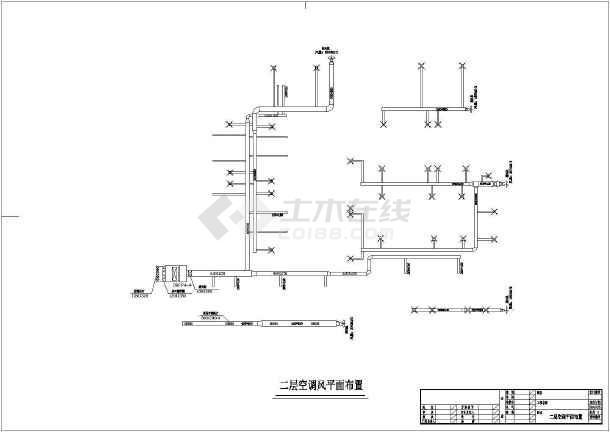 某休闲中心建筑楼整套中央空调系统平面cad施工图纸-图3