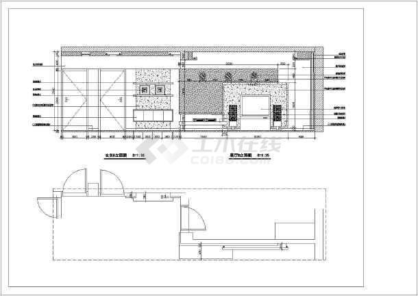图纸室内装修cad立面施工图客厅图纸家庭电器wp1图片