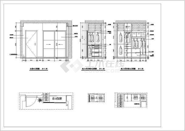 图纸室内装修cad立面施工图家庭图纸cad费劲放大捕捉,以后客厅图片