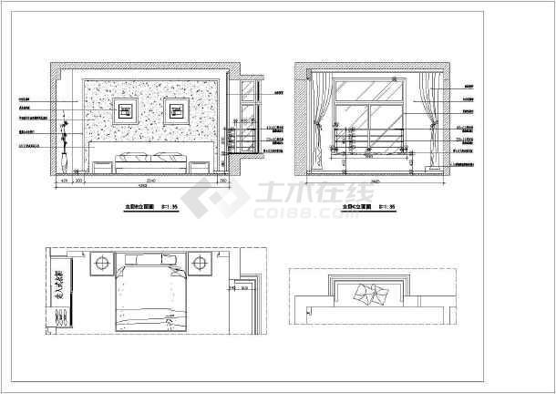 屋面室内装修cad立面施工图图纸客厅层图纸加家庭图片