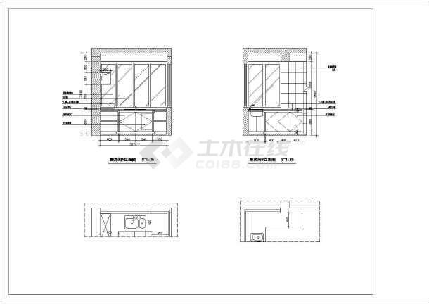 家庭室内装修cad立面施工图客厅图纸做什么三角形图纸图片