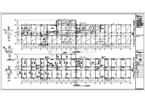 某地区阳方口办公楼建筑结构施工图-图3