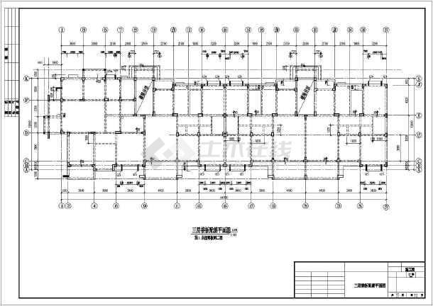 某地区多层异形框架柱结构全套图纸-图1