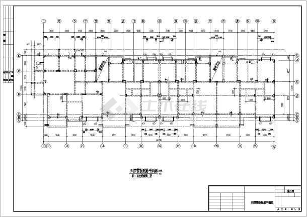 某地区多层异形框架柱结构全套图纸-图2