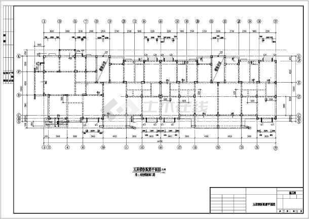某地区多层异形框架柱结构全套图纸-图3