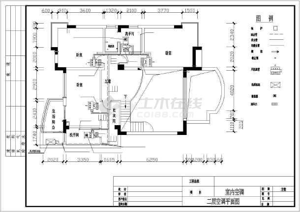某住宅户型中央空调设计cad平面施工方案图-图1