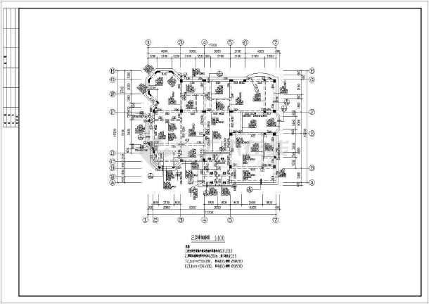 某别墅建筑结构施工图(共14张)-图2