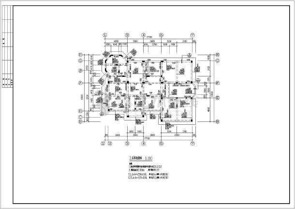 某别墅建筑结构施工图(共14张)-图3