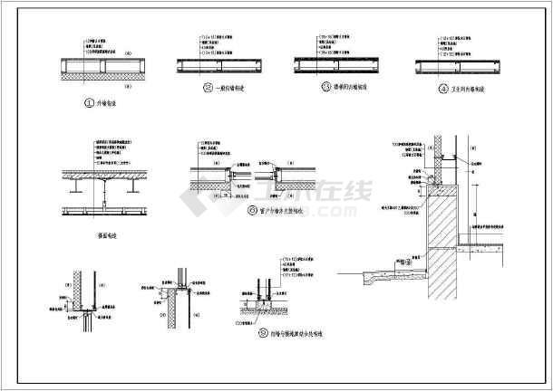 某地区小型商场建筑结构施工总套图纸-图1