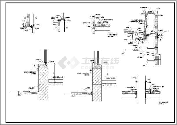 某地区小型商场建筑结构施工总套图纸-图2
