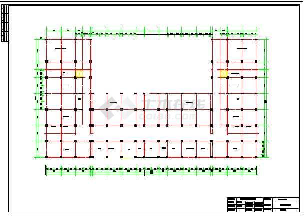 25200平米框架结构图书馆毕业设计(标注详细)-图1