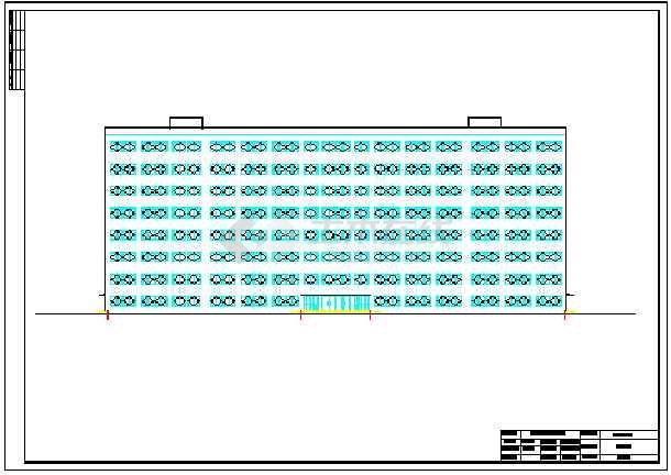 25200平米框架结构图书馆毕业设计(标注详细)-图2