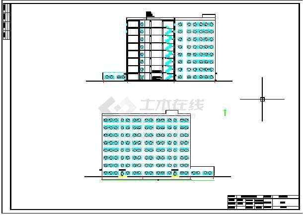 25200平米框架结构图书馆毕业设计(标注详细)-图3