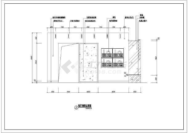 小两居住宅室内装修cad平面施工图-图2