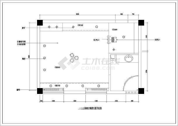 某高管宿舍室内装修CAD施工设计图-图1