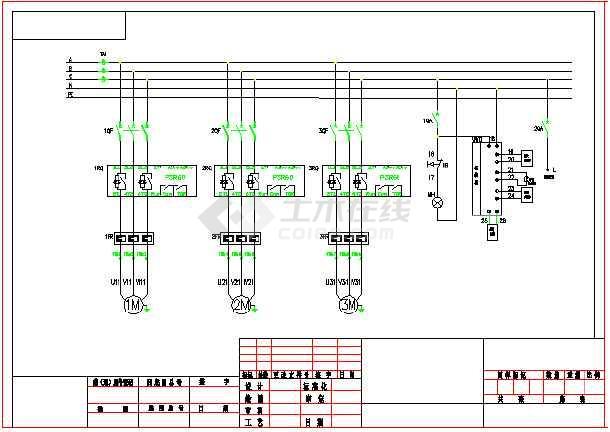 abb psr软起动器本地远程控制原理图