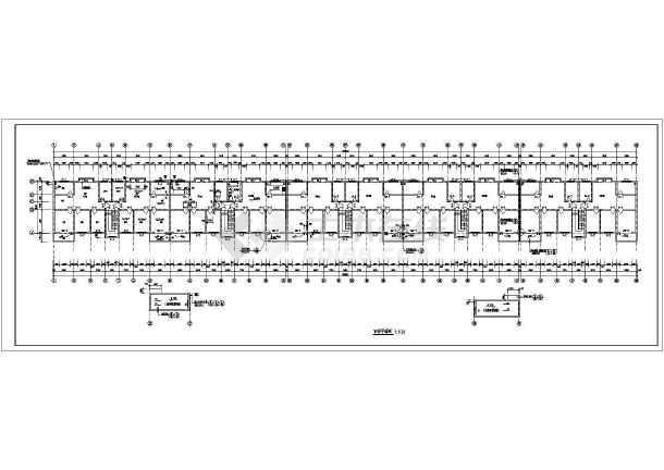 某商住两用框架结构住宅楼施工图纸(含设计说明)-图3