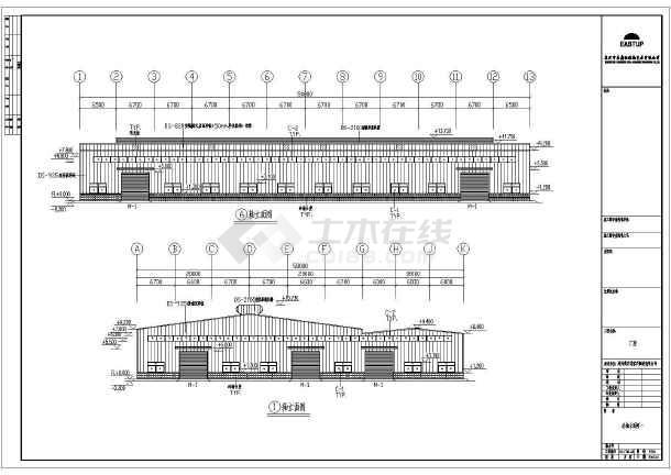 某地区家具制造沙龙365厂房建筑结构施工图-图2