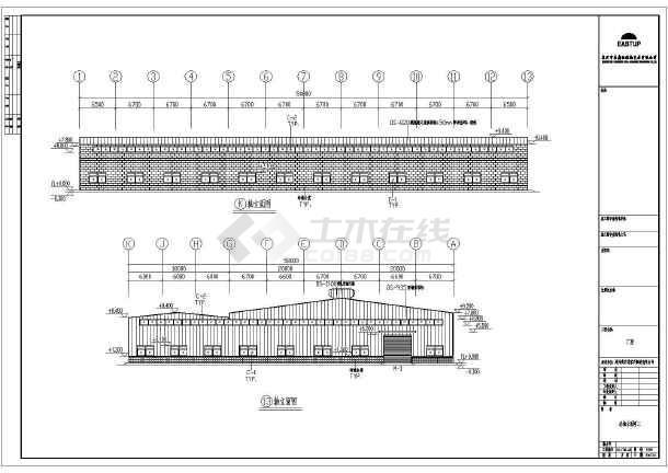 某地区家具制造沙龙365厂房建筑结构施工图-图3