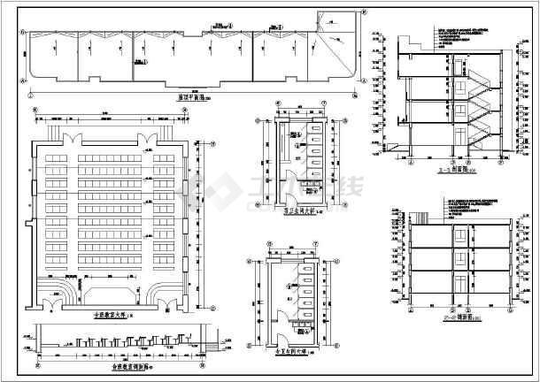 某地区四层教学楼建筑结构设计图纸-图1