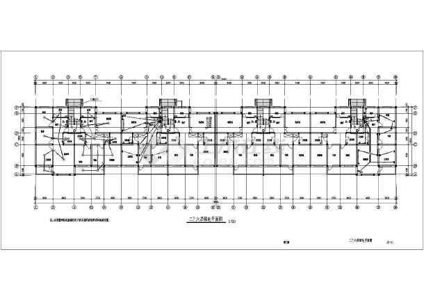 某民用建筑住宅楼电梯施工图纸,内容详实-图3