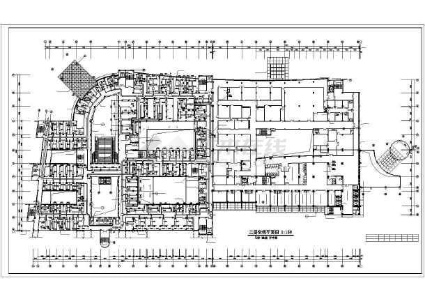 某医院办公楼全套中央空调设计施工cad方案图纸-图1