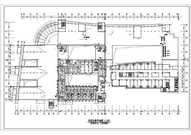 某医院办公楼全套中央空调设计施工cad方案图纸-图3