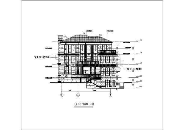 某现代风格多层建筑全套cad施工图-图1