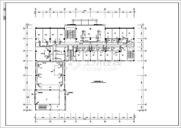 某招待所综合楼空调系统cad设计平面施工图纸-图2