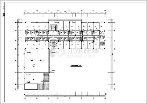 某招待所综合楼空调系统cad设计平面施工图纸-图3