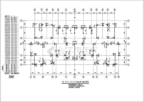 抗震二级高层剪力墙的完整的cad结构图纸-图1