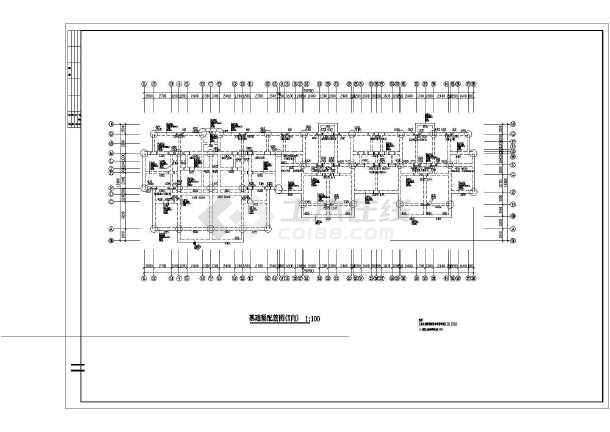 某地区住宅楼建筑结构施工总套图纸-图2