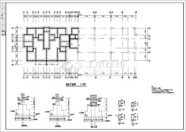 某地区住宅楼建筑结构施工总套图纸-图3
