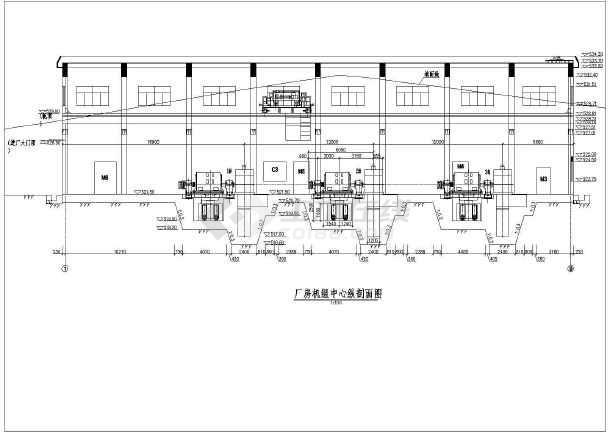 高水头水电站厂房的完整cad施工设计建筑图纸-图2