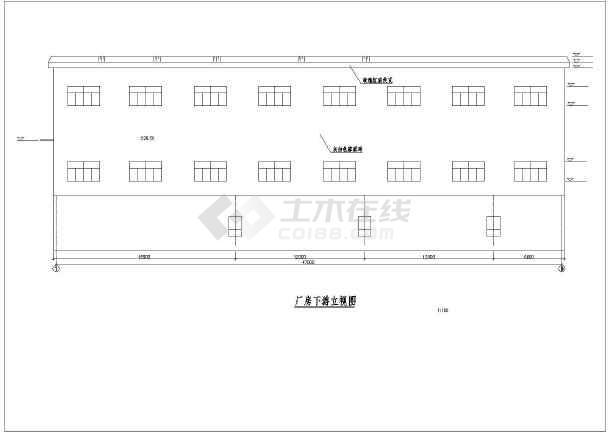 高水头水电站厂房的完整cad施工设计建筑图纸-图3