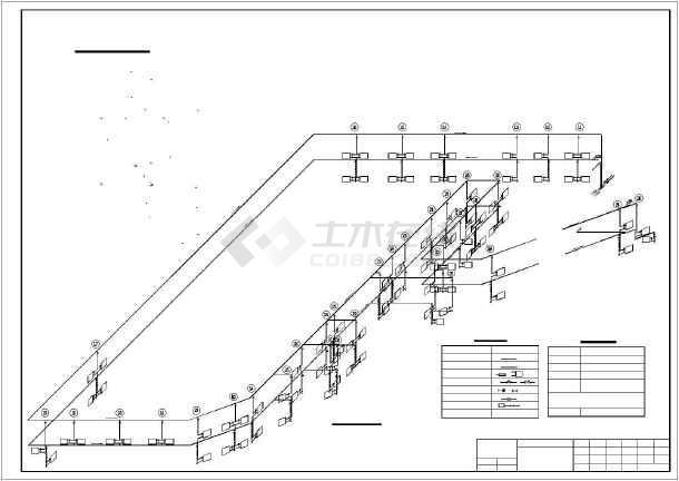 某员工食堂采暖施工设计cad平面施工方案图-图2