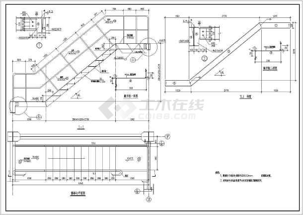 各种样式的楼梯CAD设计结构图集-图1