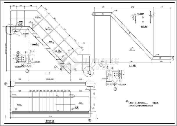 各种样式的楼梯CAD设计结构图集-图2