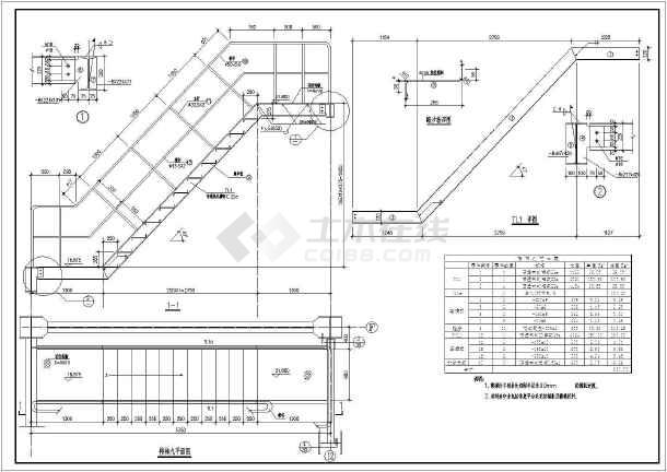 各种样式的楼梯CAD设计结构图集-图3