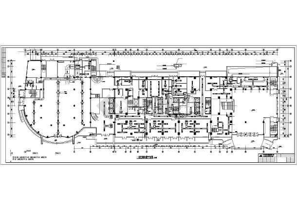 某五星宾馆地下2层全套空调通风系统设计cad平面图纸-图1