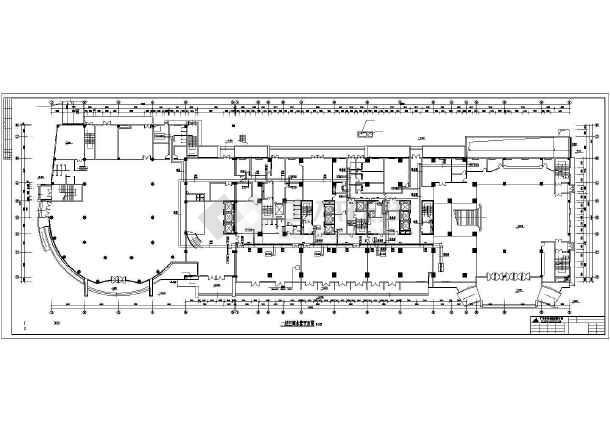 某五星宾馆地下2层全套空调通风系统设计cad平面图纸-图2