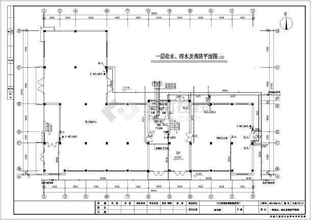 某地写字楼综合办公楼给排水设计施工图-图3