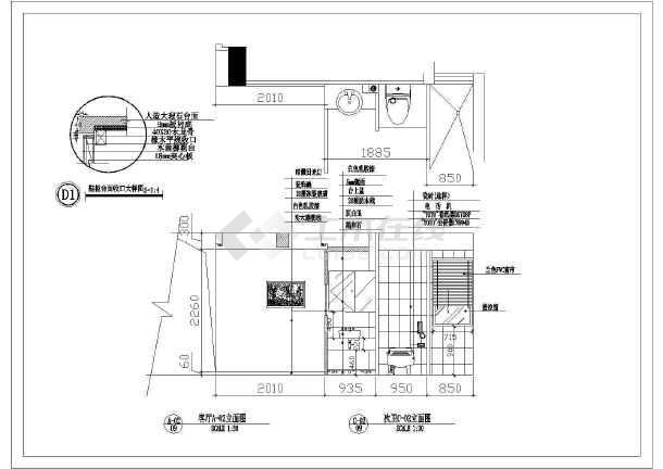 某地区江滨假日家居全套cad设计方案图纸-图2